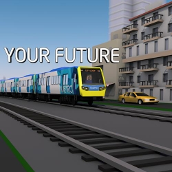 Metro Trains 3D animation
